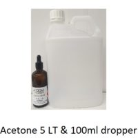 Acetone 5 Litre with 100ml dropper